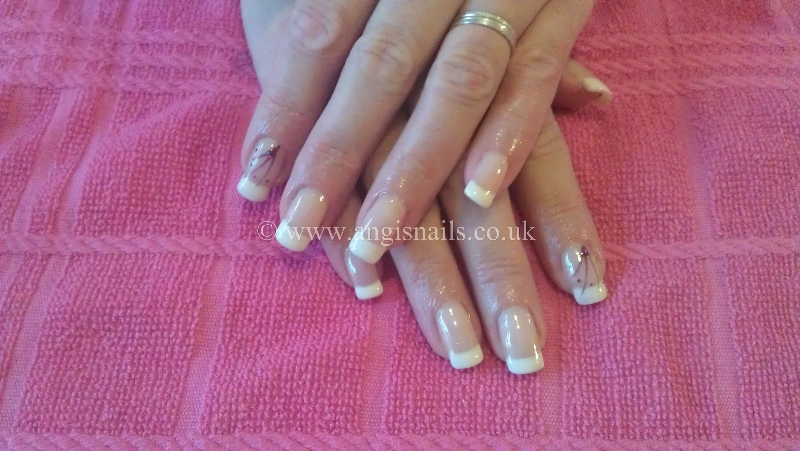 Natural Gel Nails with Gelish French Manicure | Angis Nails